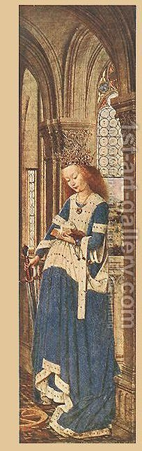 Right Panel by Jan Van Eyck - Reproduction Oil Painting