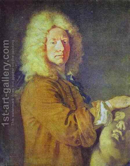 Portrait of Pater by Jean-Antoine Watteau - Reproduction Oil Painting