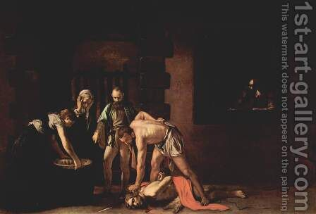 Beheading of Saint John the Baptist  by Caravaggio - Reproduction Oil Painting