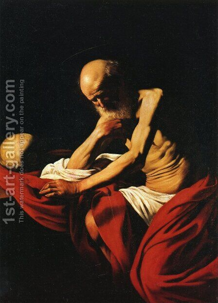 St. Jerome by Caravaggio - Reproduction Oil Painting