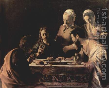 Supper at Emmaus 2 by Caravaggio - Reproduction Oil Painting