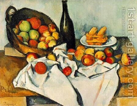 Still Life with Basket of Apples by Paul Cezanne - Reproduction Oil Painting