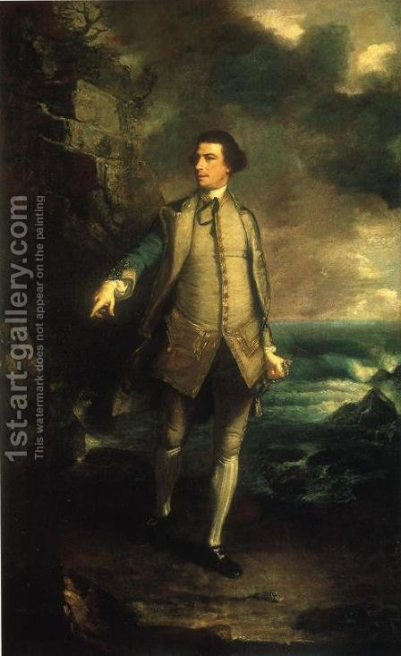 Augustus, Viscount Keppel by Sir Joshua Reynolds - Reproduction Oil Painting