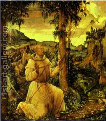 The Stigmatization of St. Francis by Albrecht Altdorfer - Reproduction Oil Painting