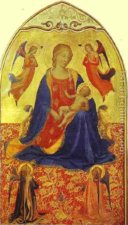 Madonna and Child with Angels by Angelico Fra - Reproduction Oil Painting