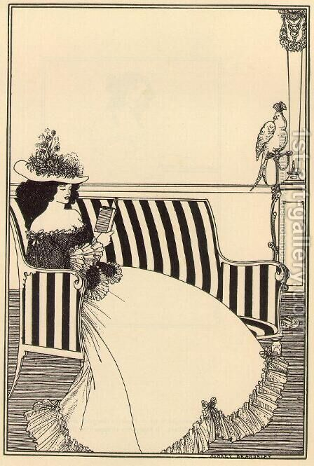Cover design for Smithers' Catalogue of Rare Books by Aubrey Vincent Beardsley - Reproduction Oil Painting