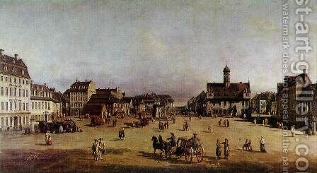 The Neustadter Market in Dresden by Bernardo Bellotto (Canaletto) - Reproduction Oil Painting