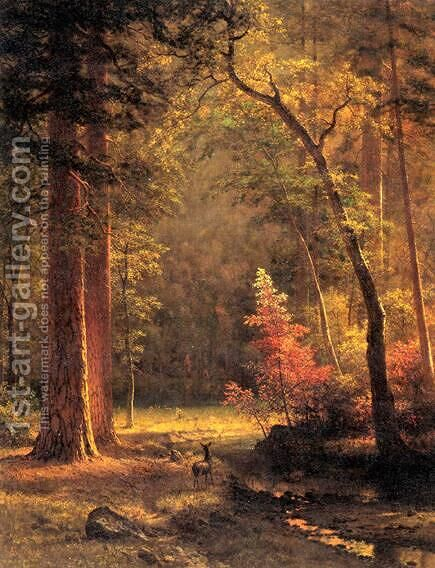 Dogwood by Albert Bierstadt - Reproduction Oil Painting