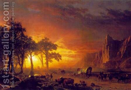 Emigrants Crossing the Plains by Albert Bierstadt - Reproduction Oil Painting