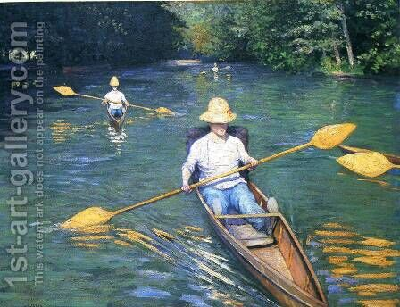 Skiffs by Gustave Caillebotte - Reproduction Oil Painting