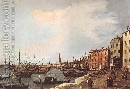 Riva degli Schiavoni from the West Side by (Giovanni Antonio Canal) Canaletto - Reproduction Oil Painting