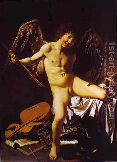 Cupid by Caravaggio - Reproduction Oil Painting