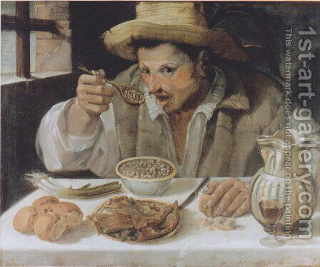 The Beaneater by Annibale Carracci - Reproduction Oil Painting