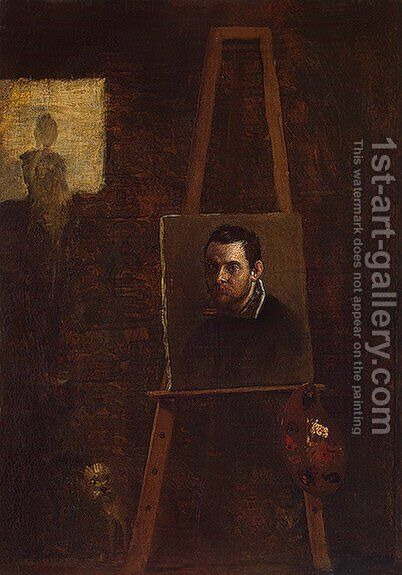 Self-Portrait 3 by Annibale Carracci - Reproduction Oil Painting