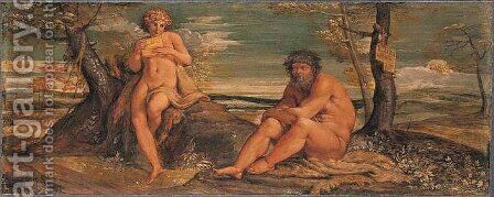 Marsyas and Olympus by Annibale Carracci - Reproduction Oil Painting