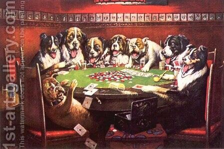 Poker Sympathy by Cassius Marcellus Coolidge - Reproduction Oil Painting