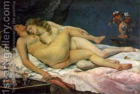 The Sleepers by Gustave Courbet - Reproduction Oil Painting