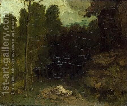 Landscape with a Dead Horse by Gustave Courbet - Reproduction Oil Painting