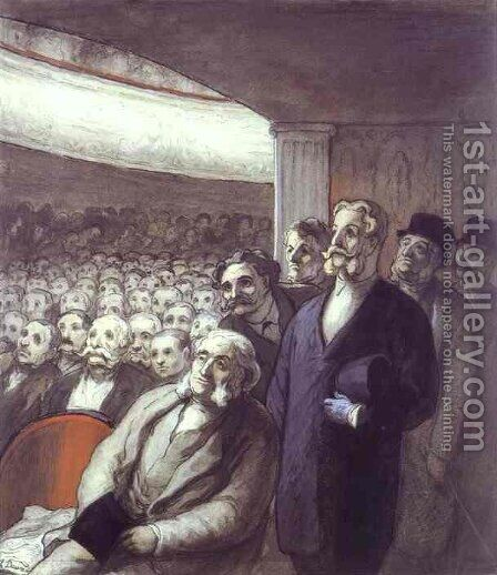 The Spectators by Honoré Daumier - Reproduction Oil Painting