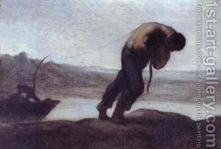 The Hauler of a Boat by Honoré Daumier - Reproduction Oil Painting