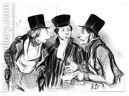 Law and Justice by Honoré Daumier - Reproduction Oil Painting