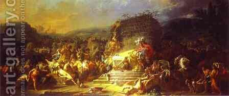 The Funeral of Patroclus by Jacques Louis David - Reproduction Oil Painting