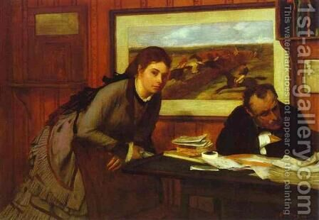 Bad Mood by Edgar Degas - Reproduction Oil Painting
