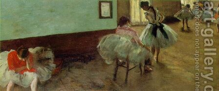The Dance Lesson by Edgar Degas - Reproduction Oil Painting