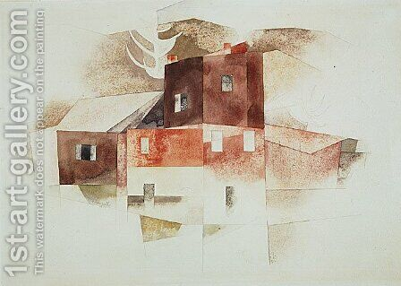 Old Houses by Charles Demuth - Reproduction Oil Painting
