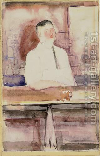 Bartender at the Brevoort by Charles Demuth - Reproduction Oil Painting