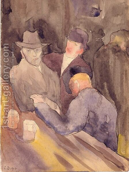 Men at a Bar by Charles Demuth - Reproduction Oil Painting