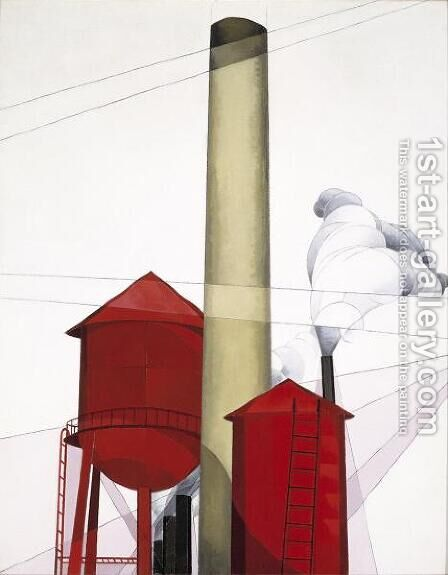 Buildings by Charles Demuth - Reproduction Oil Painting