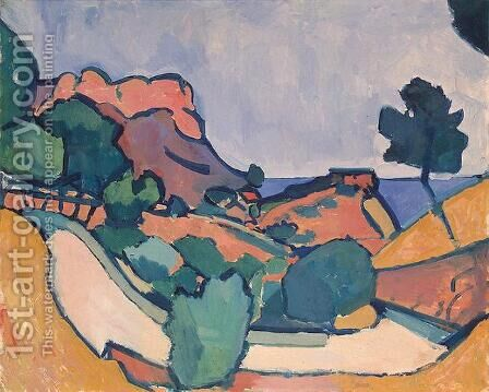 Road in the Mountains by Andre Derain - Reproduction Oil Painting