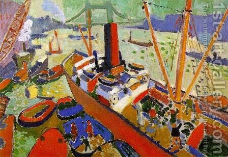 The Pool of London by Andre Derain - Reproduction Oil Painting