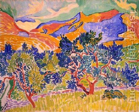 Mountains at Collioure by Andre Derain - Reproduction Oil Painting