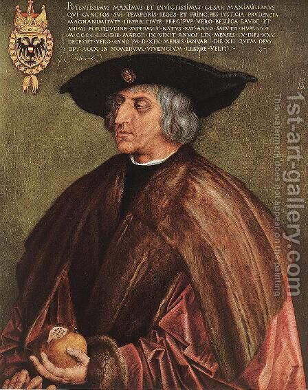 Portrait of Maximilian I by Albrecht Durer - Reproduction Oil Painting