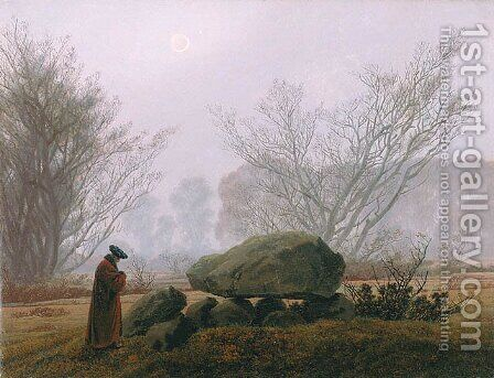 A Walk at Dusk by Caspar David Friedrich - Reproduction Oil Painting