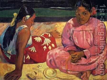 Women of Tahiti by Paul Gauguin - Reproduction Oil Painting