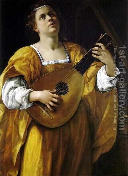 Saint Cecilia by Artemisia Gentileschi - Reproduction Oil Painting