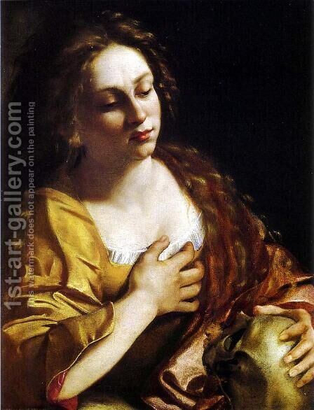 Penitent Magdalene by Artemisia Gentileschi - Reproduction Oil Painting