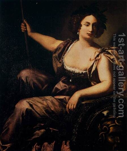Minerva by Artemisia Gentileschi - Reproduction Oil Painting