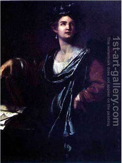 Clio by Artemisia Gentileschi - Reproduction Oil Painting