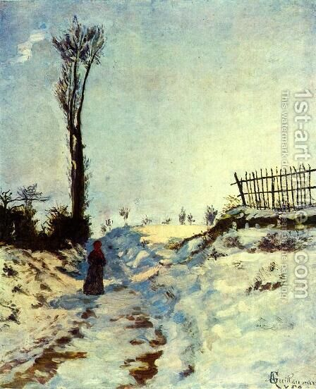 Road with Snow by Armand Guillaumin - Reproduction Oil Painting