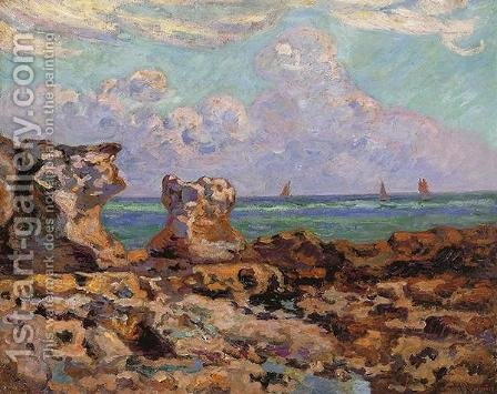 Low Tide at Saint-Palais-la-Pierriere by Armand Guillaumin - Reproduction Oil Painting