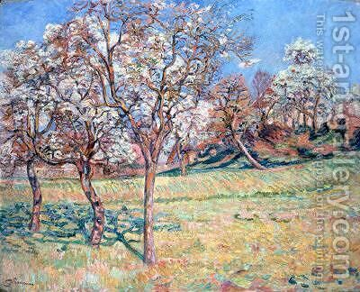 Apple Trees at Damiette by Armand Guillaumin - Reproduction Oil Painting