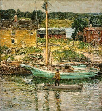 Oyster Sloop by Childe Hassam - Reproduction Oil Painting