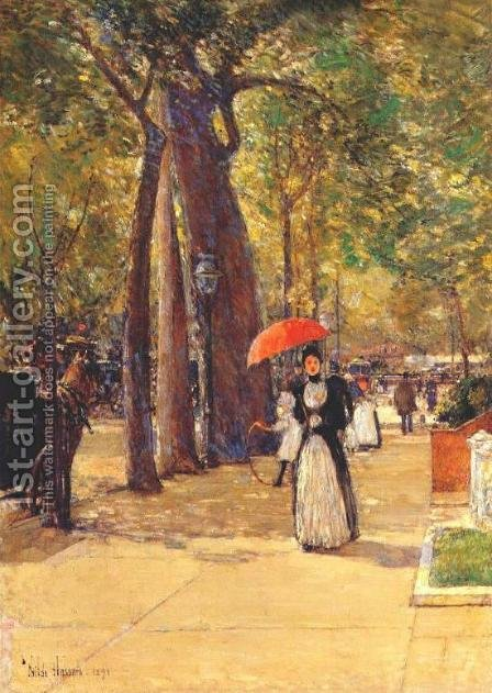Fifth Avenue at Washington Square by Childe Hassam - Reproduction Oil Painting