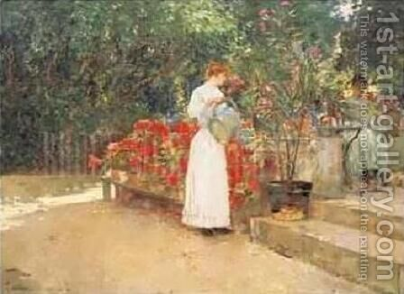 After Breakfast by Childe Hassam - Reproduction Oil Painting