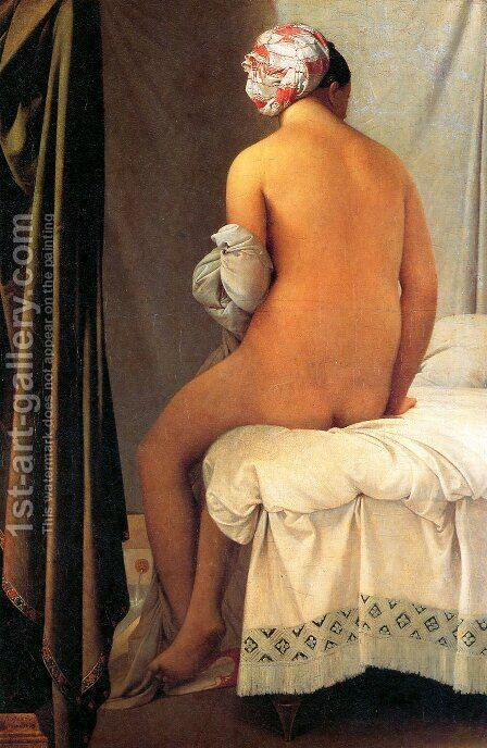 The Bather of Valpinçon by Jean Auguste Dominique Ingres - Reproduction Oil Painting