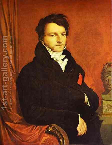 Portrait of Jacques Marquet by Jean Auguste Dominique Ingres - Reproduction Oil Painting
